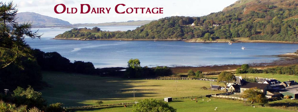 Fearnach House Old Dairy Cottage Self Catering on Loch Melfort Kilmelford near Oban Scotland