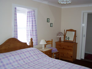 Bedroom at The Old Dairy - self catering on Loch Melfort by Oban Scotland